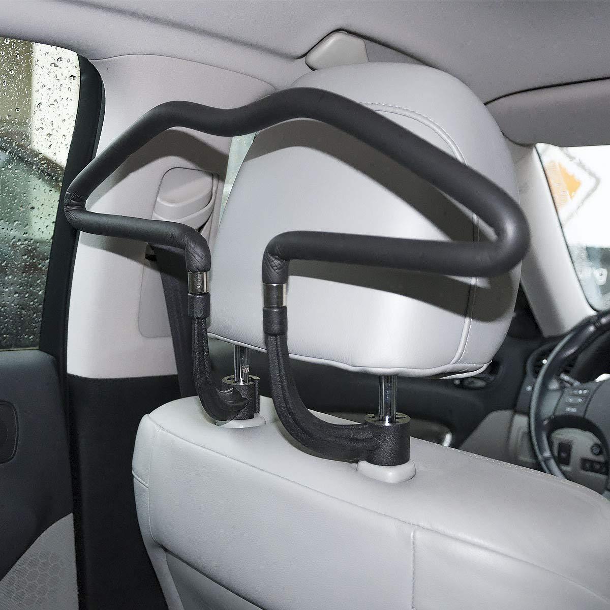 Jacken M/äntel usw. MidGard Autositz Kleiderb/ügel universal Kopfst/ützen Autositz Autokleiderb/ügel f/ür Anz/üge