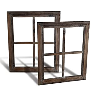 Cade Rustic Wall Decor-Home Decor Window Barnwood Frames -Room Decor for Home or Outdoor, Not for Pictures (2, 18.X21.5)