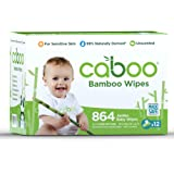 Caboo Tree Free Bamboo Baby Wipes, Eco Friendly Natural Baby Wipes for Sensitive Skin, 12 Resealable Peel Tab Travel Packs, 72 Wipes Per Pack, Bulk Total of 864 Wipes