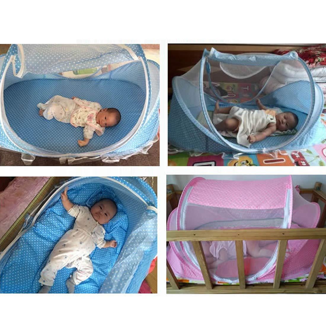 Faltbar Baby Travel Krippe mit Moskitonetz Baby Reisebett tragbar Baby Kinderbett Moskitonetz tragbar Babybetten f/ür 0 3/Jahre Baby