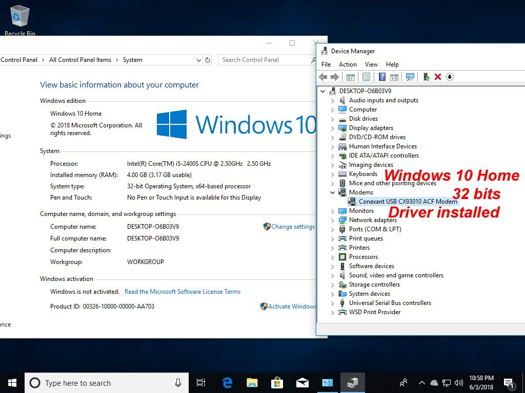 USB 56K External Dial Up Voice Fax Data Modem Windows 10/8/7/XP/Vista by Miyagle