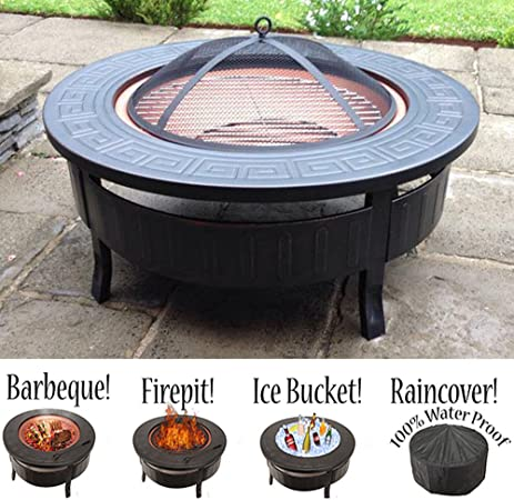 Grand Brasero 3 En 1 Pour Barbecue Amazon Fr Jardin