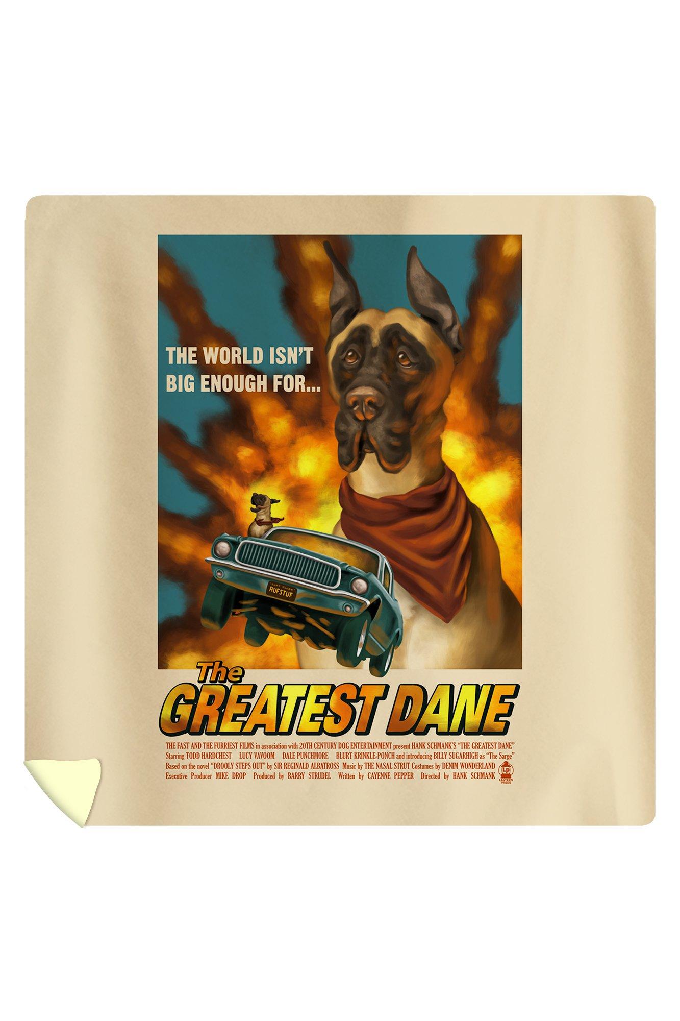 Great Dane - Retro Movie Ad (88x88 Queen Microfiber Duvet Cover)