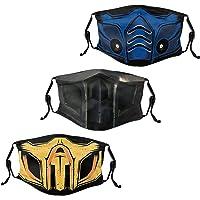 Men Women's 3Pcs Face Mask Washable Face Mask with Adjustable EarLoops Bandana Balaclava Mouth Cover
