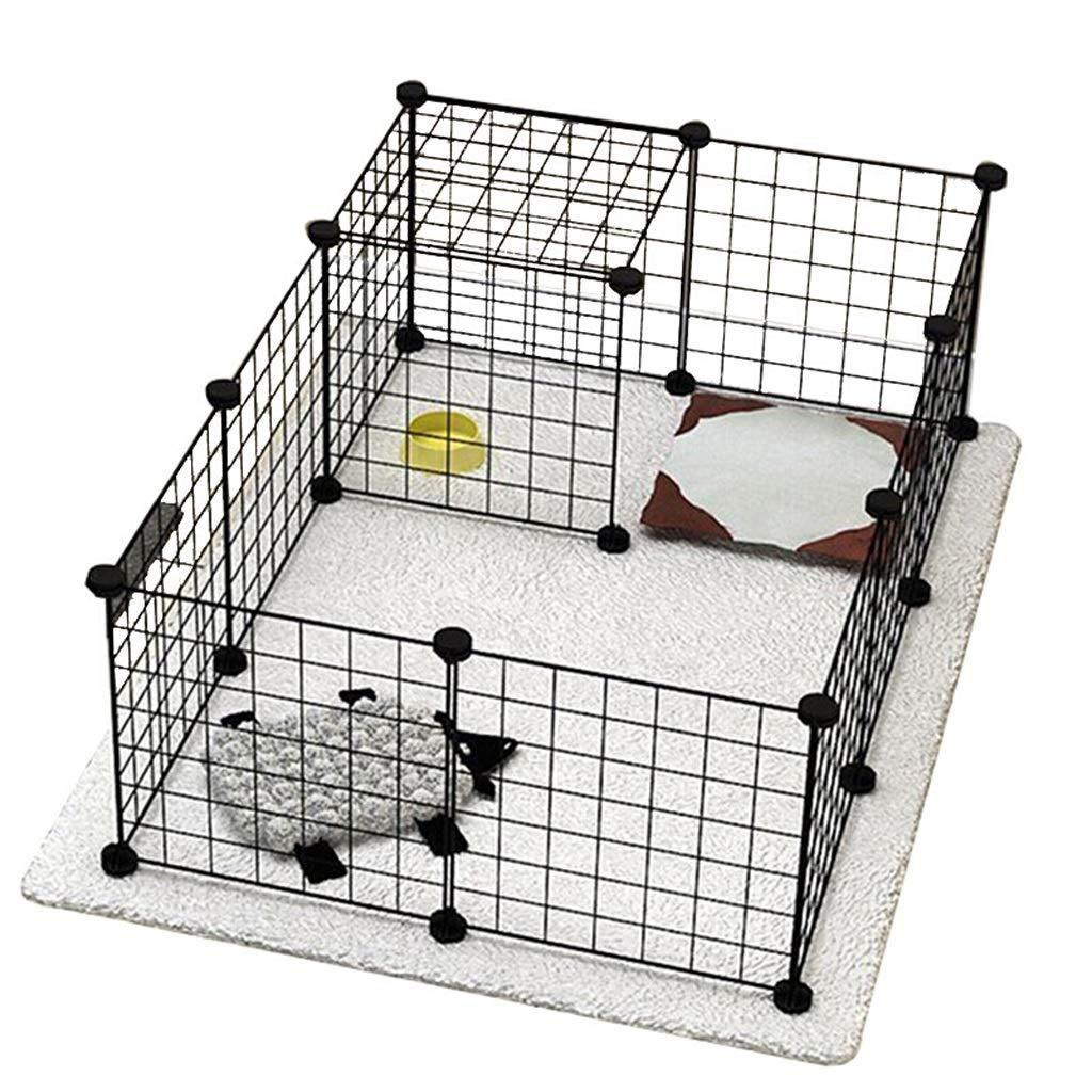 12 pieces Foldable Metal Pet Carrier Expandable Metal Playpen Cage Pet Dog Pen Puppy Cat Rabbit Foldable Playpen Indoor Outdoor Enclosure Run Cage (Size   12 pieces)