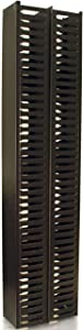 """C2G/Cables To Go Rack Mount Cable Management - Doubled Sided Vertical Cable Organizer For Server Racks - Universal 35"""" Design Attaches To Existing Rack Holes - Route Cables Through Front & Back Finger Duct, Black (3748)"""