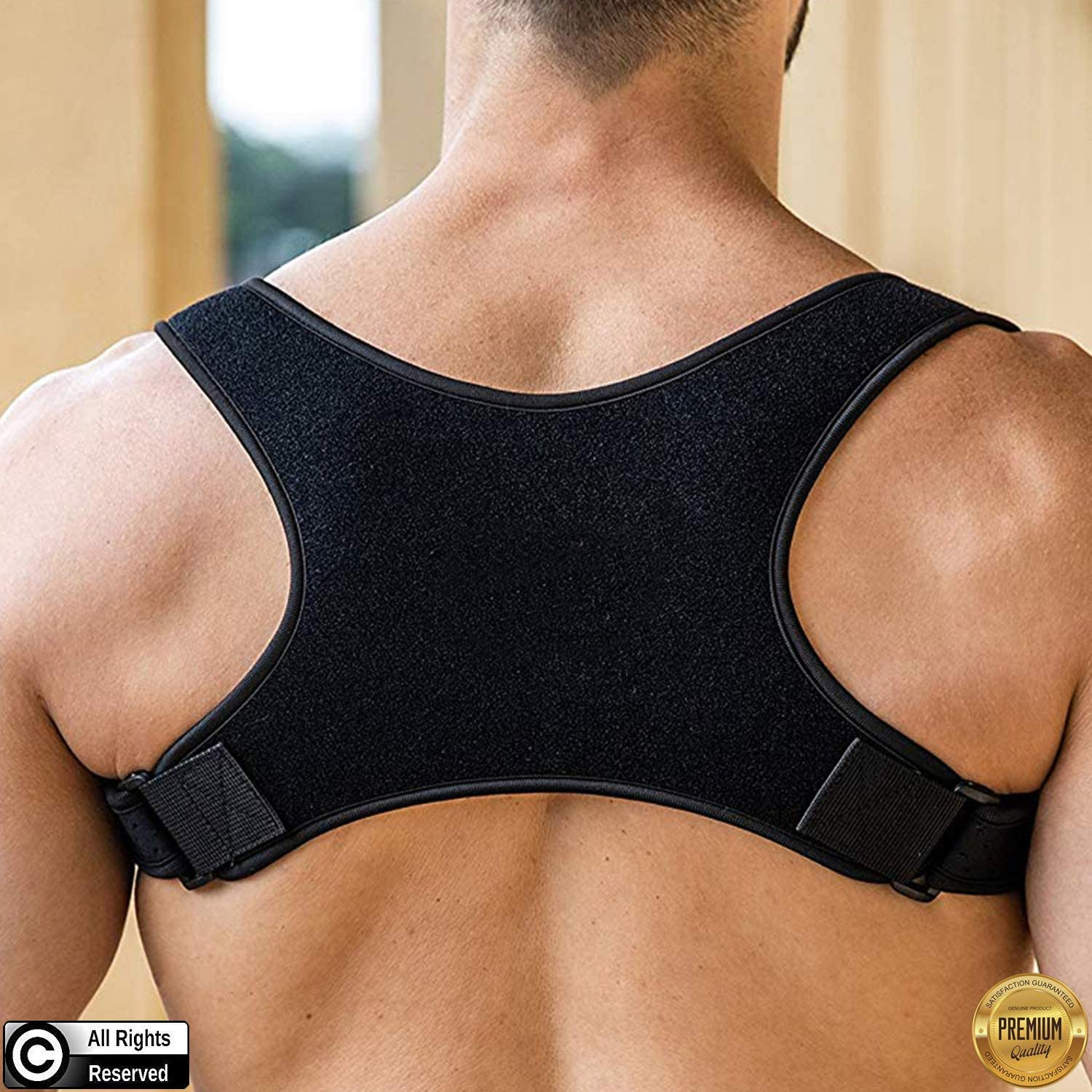 Posture Corrector for Men and Women | Discreet Under Clothes Comfortable and Effective Clavicle Brace