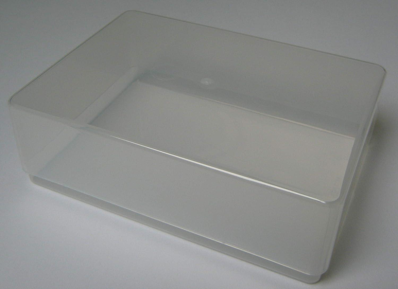 Variocolors 8 Stück A6 Aufbewahrungsboxen aus Kunststoff transparent A6 Multistorageboxen ca. 175x125x55mm