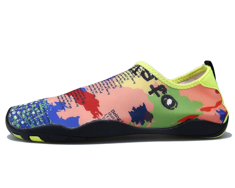 AFFINEST Unisex Zapatos de Agua Deportivos descalzo de Secado Rápido Respirable Piscina Playa Para Hombre Surf Yoga Water Shoes(Amarillo,43)