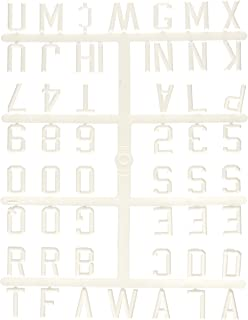 Ghent 1 Gothic Font Uppercase Letters Numbers Symbols White Plastic