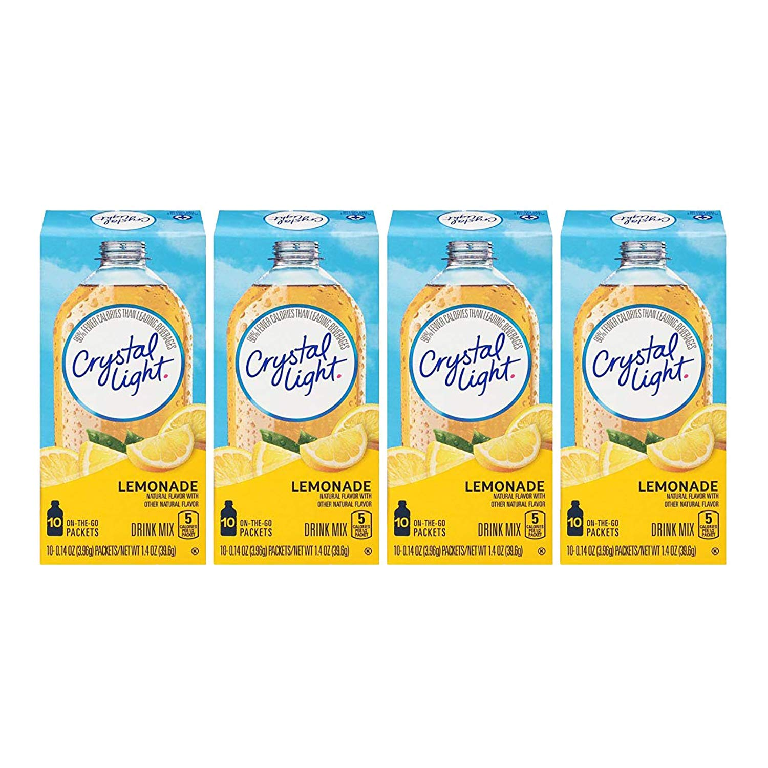 Crystal Light Lemonade, 10 On-the-Go Packets (Pack of 4)