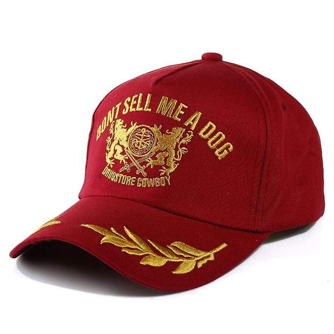 Llxln Gorras Snapback Hat Un Patrón Especial De Bordados En Oro Rojo: Amazon.es: Ropa y accesorios