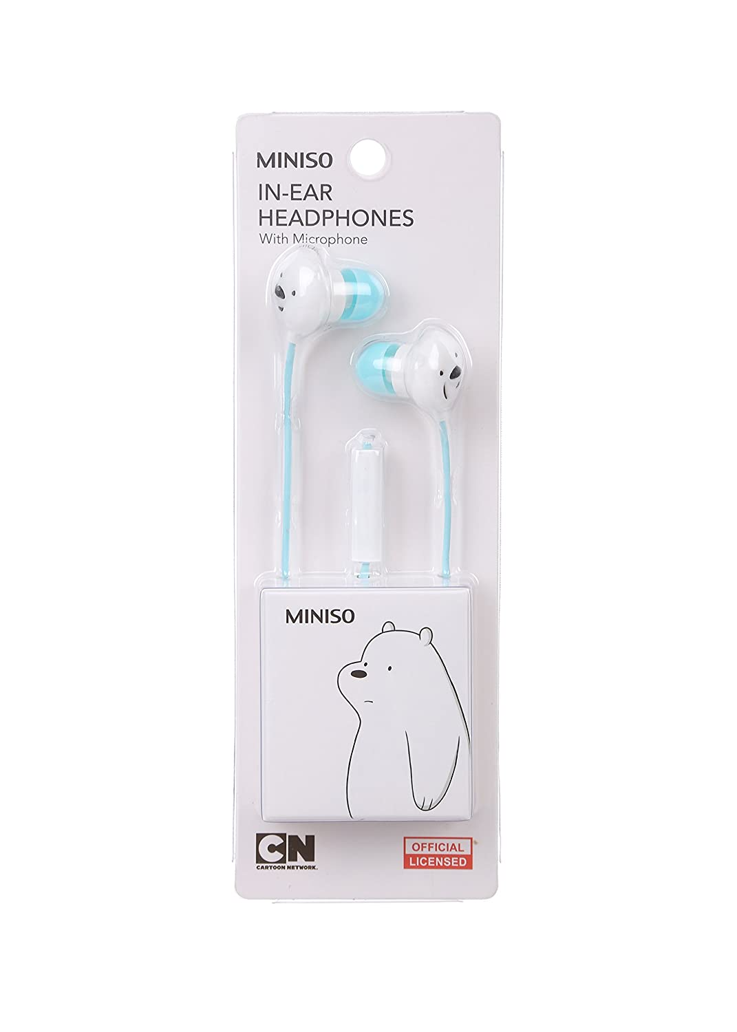 2cf91e6f3d5 MINISO We Bare Bears - Universal in-Ear Wired Headphones with Microphone  for Smartphone (Blue): Amazon.com.au: Electronics