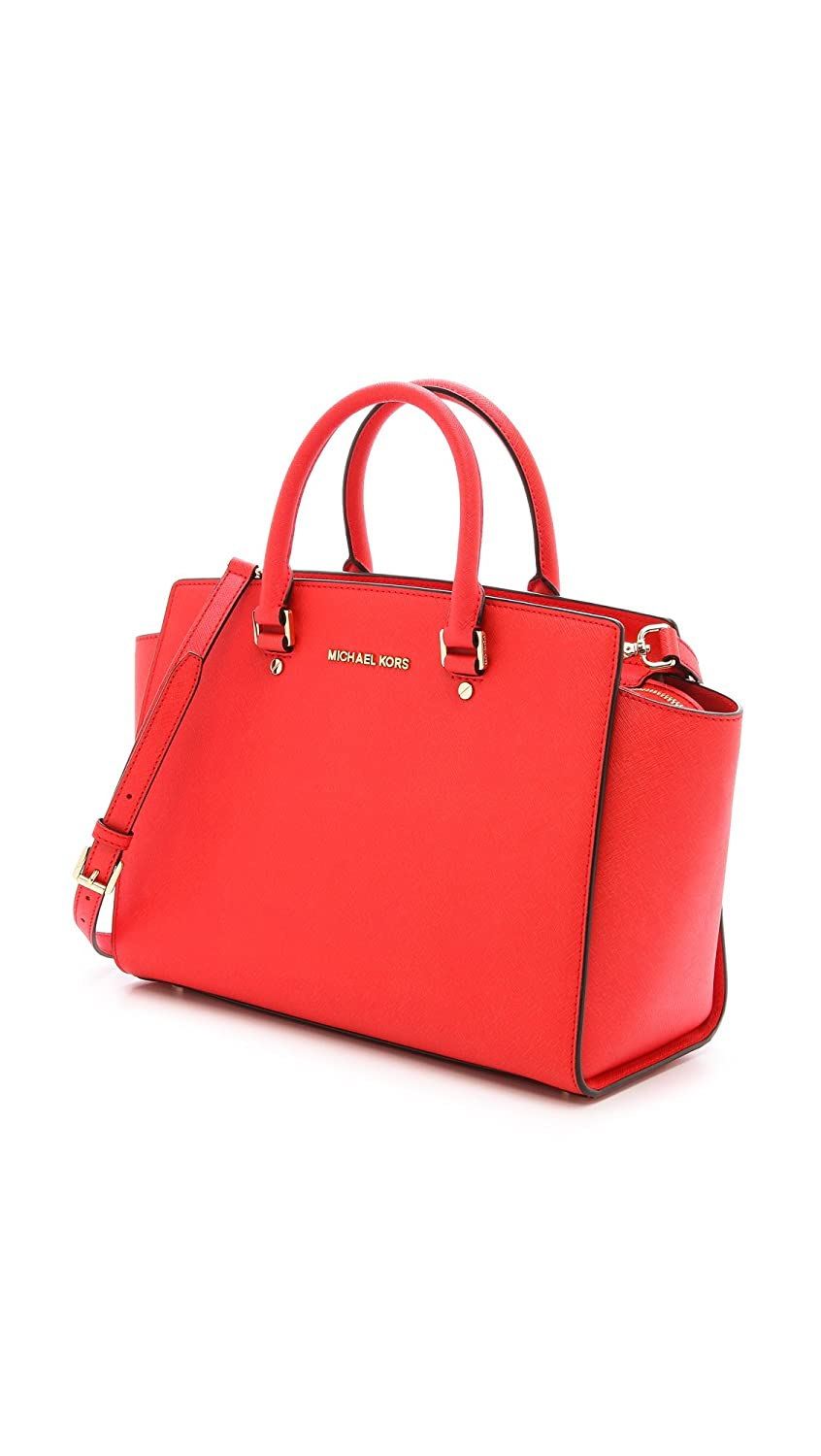 2dd88e6fc403 Amazon.com  Michael Kors Womens Selma Large TZ Satchel Zip Top Mandarin  Saffiano  Shoes