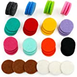 42pcs Replacement Refill Pads(22mm) for Aromatherapy Essential Oil Diffuser Necklace with 14 Colors