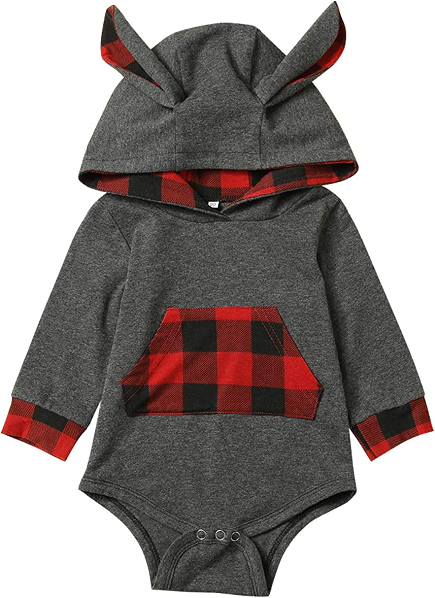 Toddler Baby Boy Outfit Set Infant Long Sleeve Hoodie Sweatshirt Pants Kids Fall Winter Clothes