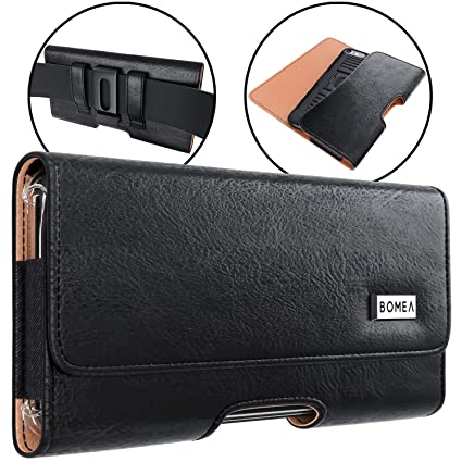 finest selection 620c6 00f43 Bomea Galaxy S10 Plus Galaxy S9 Plus Galaxy S8 Plus Note 8 Belt Case,  Premium Leather Belt Clip Case Holster Pouch Sleeve Phone Holder For  Samsung ...