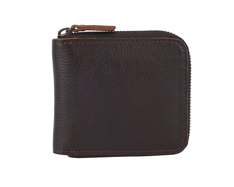 HHF Purses /& Wallets Mens Wallet Leather Short Paragraph Retro Coin Purse Crazy Horseskin Man Bag