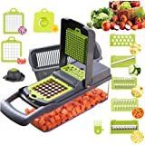Vegetable Chopper,BRITOR Mandoline Slicer Cutter Chopper and Grater 10 in 1 Vegetable Slicer Potato Onion Chopper Veggie…
