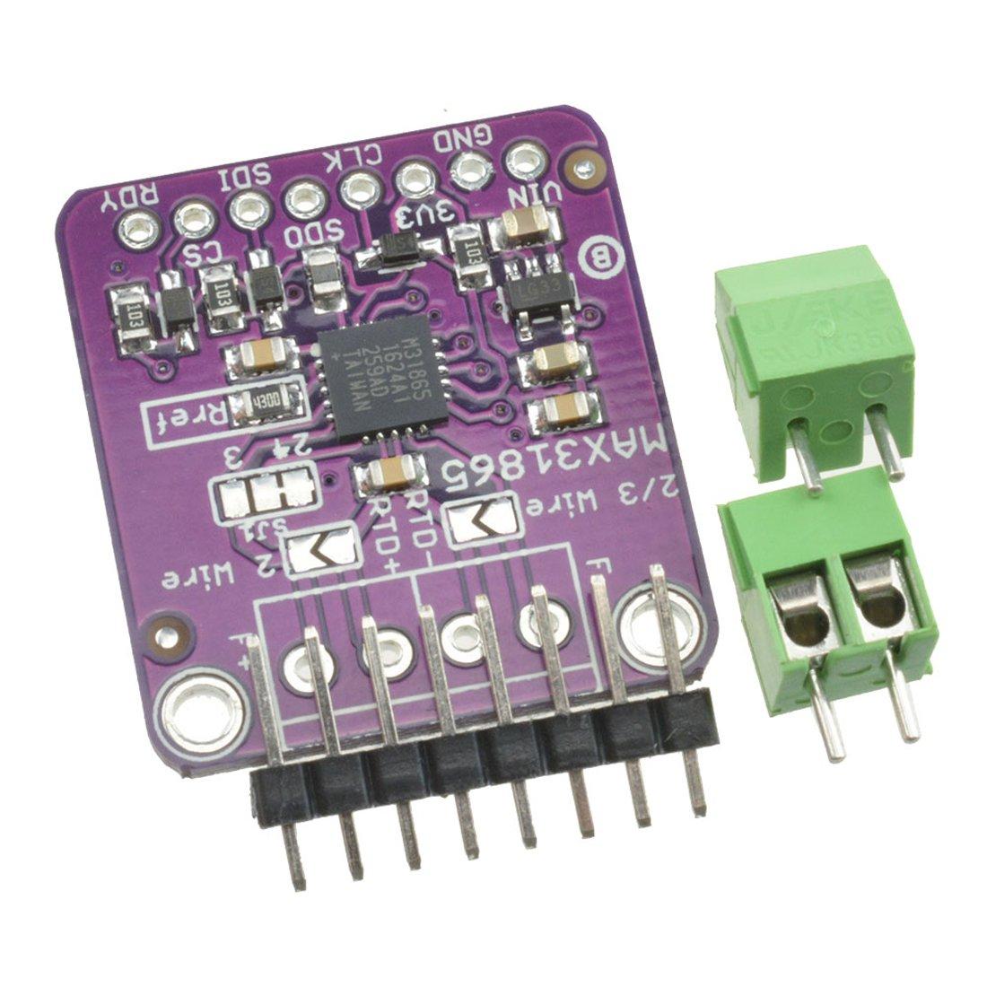 2PCS MAX31865 PT100//1000 RTD Temperature Thermocouple Sensor Amplifier Board