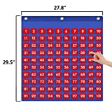 Eamay Hundreds Pocket Chart with 130 Number