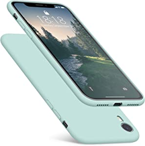 DTTO Compatible with iPhone XR Case, [Romance Series] Silicone Case with Hybrid Protection for iPhone XR 6.1 Inch - Mint Green