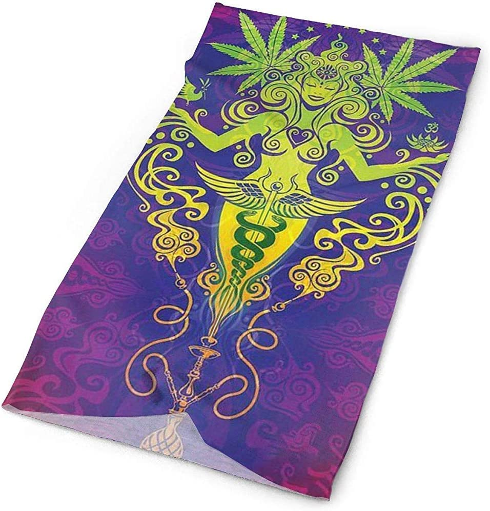 Sombreros para el deporte al aire libre Diadema, cuello polaina, diadema, pañuelo, pasamontañas, hoja de marihuana Holy Marijuana Purple Head Wrap Scarf