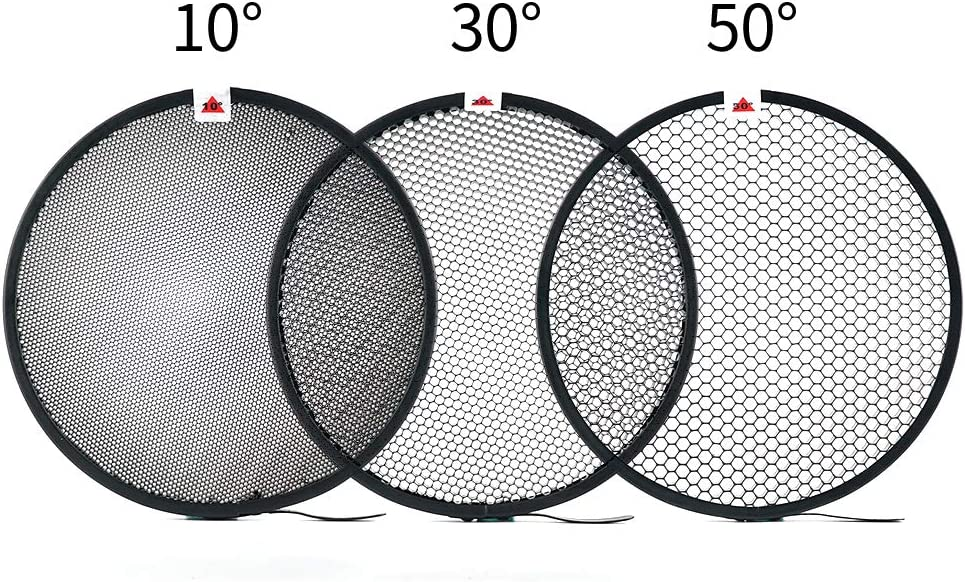 "Soonpho 7"" Photography Honeycomb Grid 10°/30°/50° for Bowens Mount Photography Studio Strobe Flash Light Speedlite Standard Reflector"