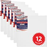 US Art Supply 12 X 12 inch Professional Quality Acid Free Stretched Canvas 6-Pack - 3/4 Profile 12 Ounce Primed Gesso - (1 Full Case of 6 Single Canvases)