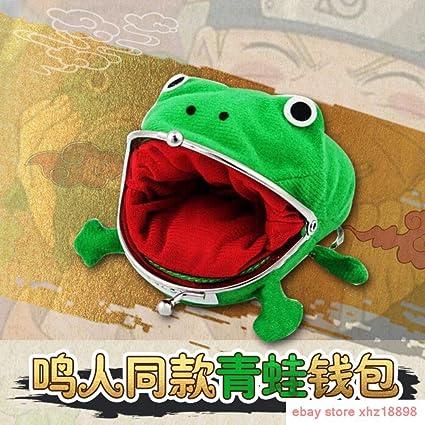 Anime Fire Shadow Naruto Portefeuille Porte-Monnaie Grenouille Vert