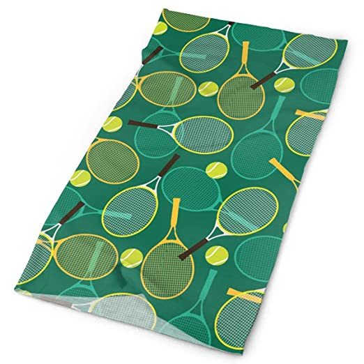 Amazon.com: Tennis Sport Green Pattern Tube Bandanas ...