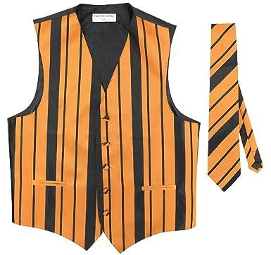 Vestido de hombre chaleco y corbata Color Negro y Dorado Tejido ...
