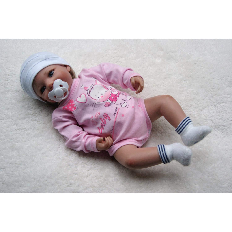 TupTam Unisex Baby Langarm-Body mit Aufdruck 5er Set