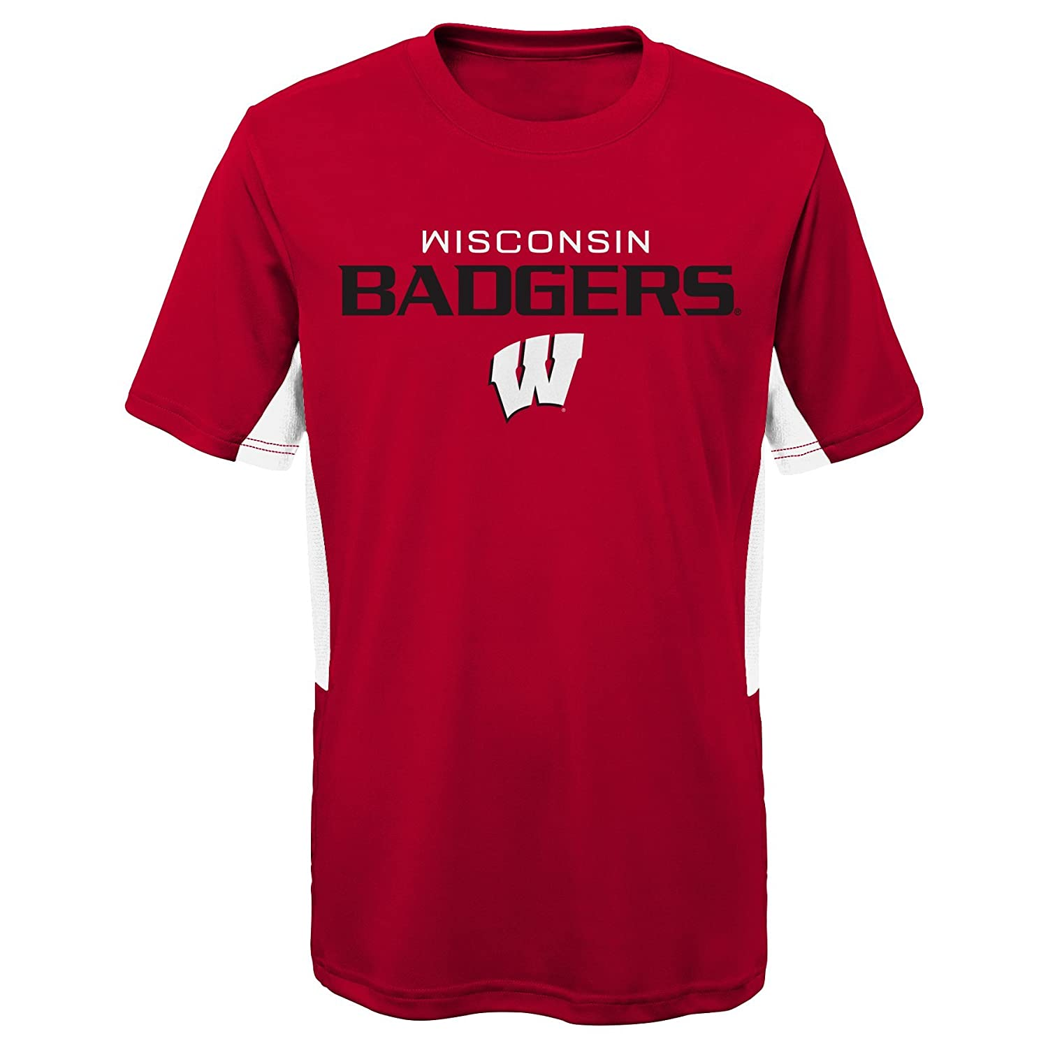 Dark Red 14-16 Youth Large NCAA by Outerstuff NCAA Wisconsin Badgers Youth Boys Mainframe: Short Sleeve Performance Top
