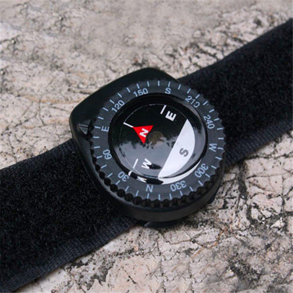 Ovovo新しいバンドコンパスブラックナイロンバンドIdeal forハイキングキャンプ釣り狩猟と他のアウトドア活動 B0743D35D1