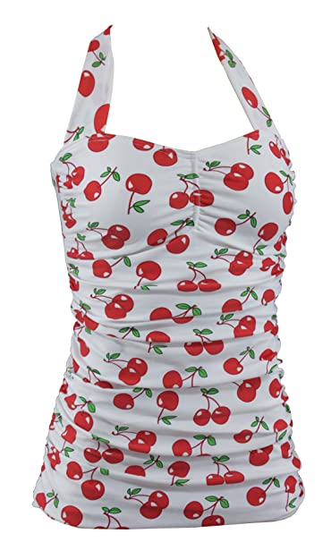 Aloha-Ropa de playa para mujer diseño vintage rockabilly cereza cerezas, A3051: Amazon.es: Ropa y accesorios