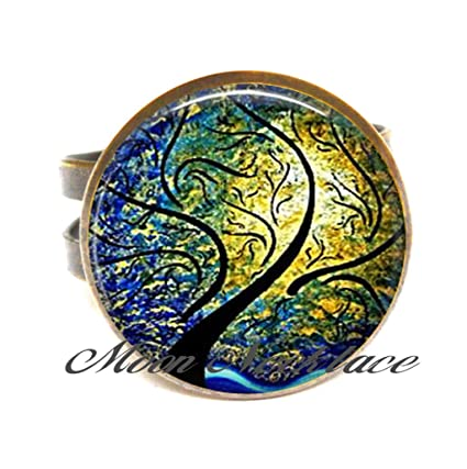 39f0fef22011 Amazon.com: Charm Ring,Willow, Wind and Sun Rings, willow tree ...