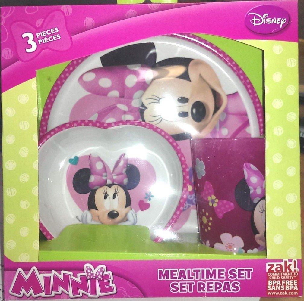 【通販激安】 Minnieマウス3 B00L9KN9F8 Set Piece Mealtime Dish Mealtime Set Disneyプレートカップ&ボウルCollectible B00L9KN9F8, カワサキムラ:acabeb0a --- a0267596.xsph.ru
