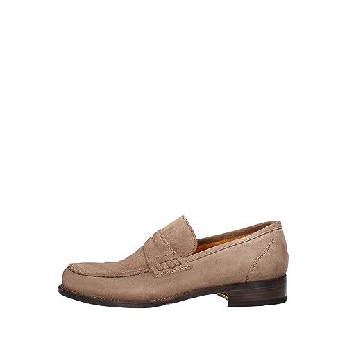 CALPIERRE Mocasines Hombre Gamuza Beige 42 EU: Amazon.es: Zapatos y complementos