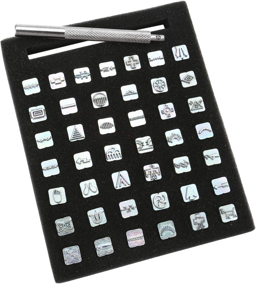0-9 Zahlen A-Z Alphabet Buchstaben 13mm Mogokoyo 36 PCS Buchstaben und Zahlen Metall Stempel-Set Stamping Punch Leder Werkzeuge f/ür DIY handgemacht Leder