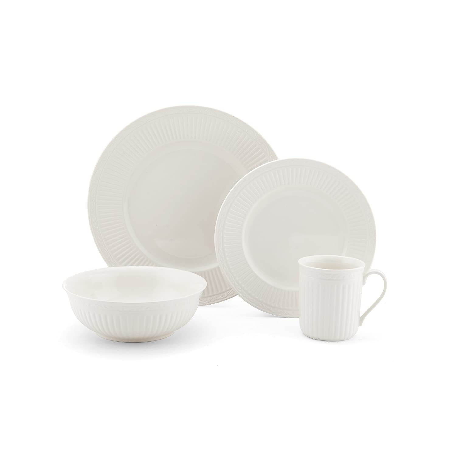 Amazon.com Mikasa Italian Countryside 4-Piece Place Setting Service for 1 Kitchen u0026 Dining  sc 1 st  Amazon.com : mikasa italian countryside dinner plate - pezcame.com