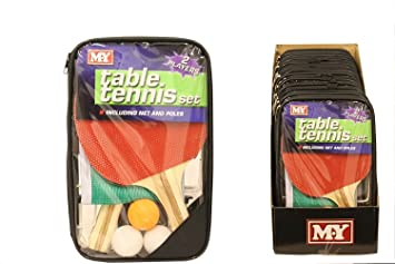 M.Y Table Tennis Set In Storage Bag: Amazon.co.uk: Sports & Outdoors