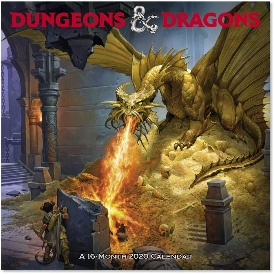 2020 Dungeons and Dragons Wall Calendar (DDW2162820)