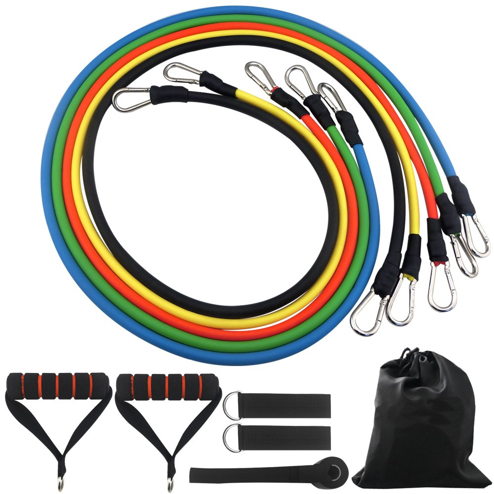 DONGJI Resistance Band Set With Door Anchor, Ankle Strap