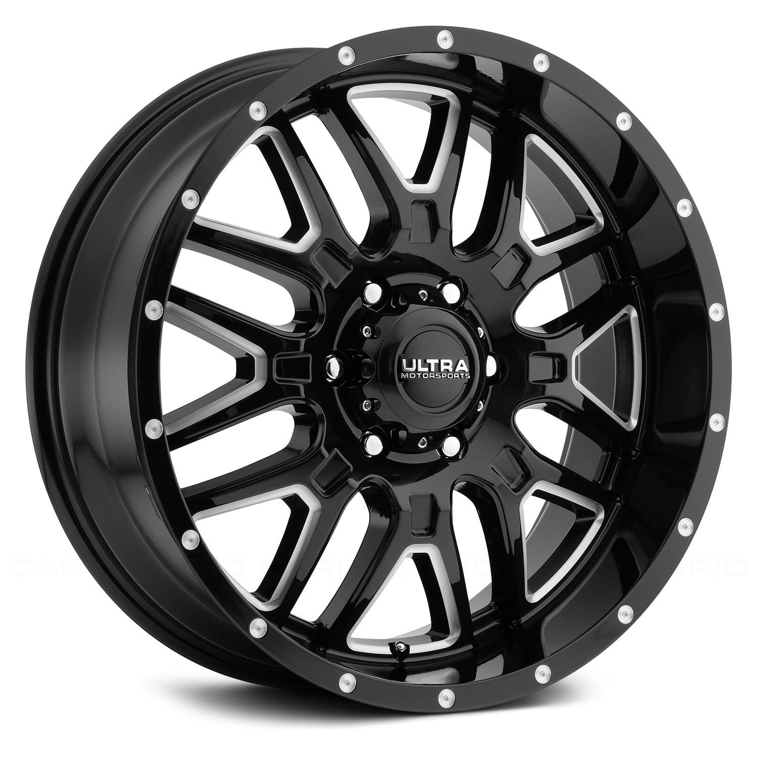Ultra 203BM Hunter 18x9 6x135 +18mm Black/Milled Wheel Rim Ultra Wheel