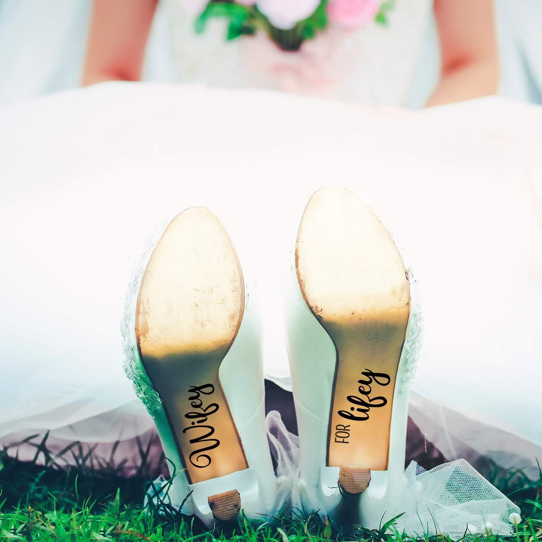 Wedding Shoe Vinyl Decal Stickers Bridal Bride Gift Wifey For Lifey