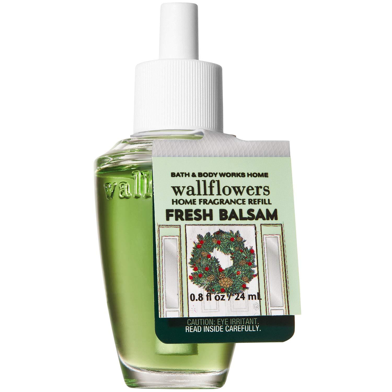 Bath and Body Works FRESH BALSAM Wallflowers Fragrance Refill 0.8 Fluid Ounce (2019 Edition)