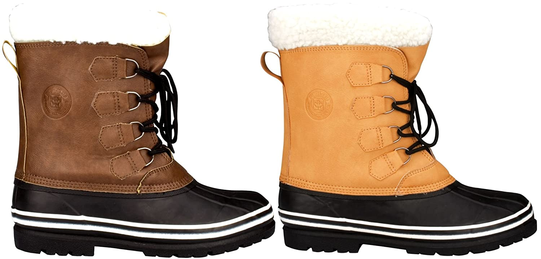 SCHREUDERS SPORT Schreuders deporte Winter-Grip sintética nobuck canadiense II Botas de nieve, color Sand/Black, tamaño talla 42