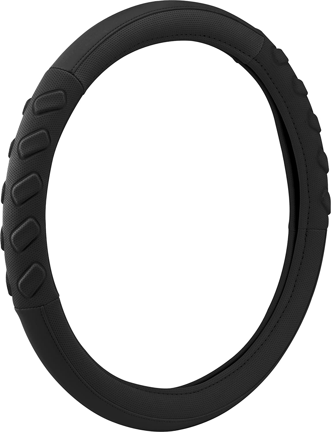 Black Bell Automotive 22-1-76109-8 Universal Pole Position Steering Wheel Cover