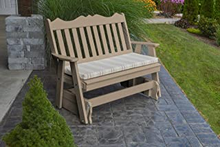 product image for Outdoor Poly 5 Foot Royal English Glider - Weather Wood